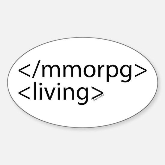 HTML Joke-MMORPGs Oval Decal