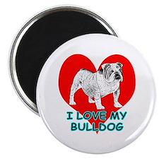 "I Love My Bulldog 2.25"" Magnet (100 pack)"