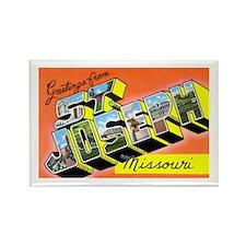 St. Joseph Missouri Greetings Rectangle Magnet