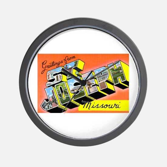 St. Joseph Missouri Greetings Wall Clock