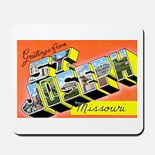 St. Joseph Missouri Greetings Mousepad