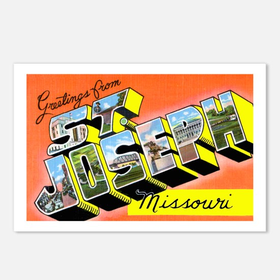St. Joseph Missouri Greetings Postcards (Package o