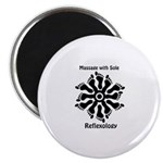 Reflexology Foot Circle Magnet