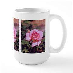 Pink Rose Art - Large Mug
