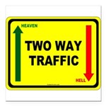 Two Way Traffic 3 Square Car Magnet 3