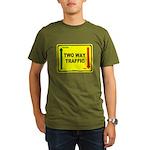 Two Way Traffic 3 Organic Men's T-Shirt (dark)