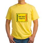 Two Way Traffic 3 Yellow T-Shirt