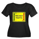 Two Way Traffic 3 Women's Plus Size Scoop Neck Dar