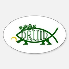 Druid Fish Oval Decal