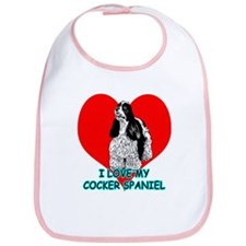 I Love My Cocker Spaniel Bib