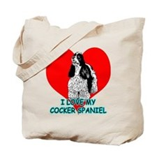 I Love My Cocker Spaniel Tote Bag