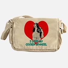 I Love My Cocker Spaniel Messenger Bag