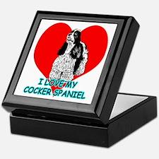I Love My Cocker Spaniel Keepsake Box