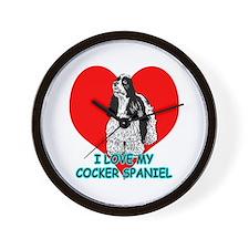 I Love My Cocker Spaniel Wall Clock