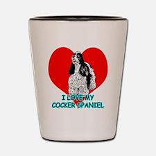 I Love My Cocker Spaniel Shot Glass