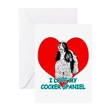 I Love My Cocker Spaniel Greeting Card