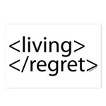 Begin Living End Regret HTML Postcards (Package of