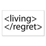 Begin Living End Regret HTML Rectangle Sticker