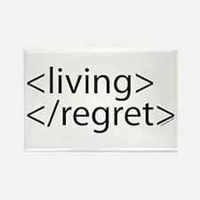 Begin Living End Regret HTML Rectangle Magnet