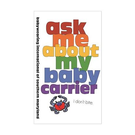 ask me - I don't bite. Sticker (Rectangle)