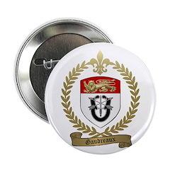 GAUDREAUX Family Crest Button