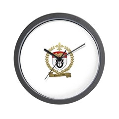GAUDREAUX Family Crest Wall Clock