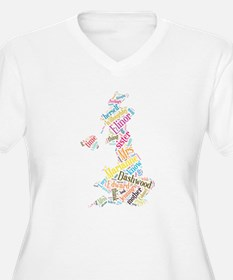 Sense and Sensibility Word Cloud Plus Size T-Shirt