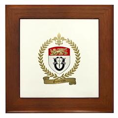 GODREAU Family Crest Framed Tile