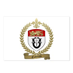 GODREAU Family Crest Postcards (Package of 8)