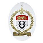 GAUDREAU Family Crest Oval Ornament