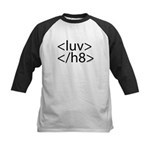 Begin Luv End H8 HTML Kids Baseball Jersey