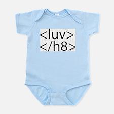 Begin Luv End H8 HTML Infant Bodysuit