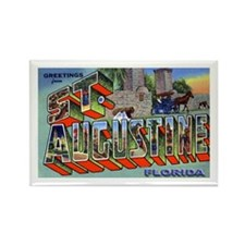 St. Augustine Florida Greetings Rectangle Magnet