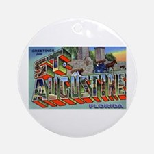 St. Augustine Florida Greetings Ornament (Round)