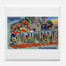 St. Augustine Florida Greetings Tile Coaster