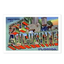St. Augustine Florida Greetings Postcards (Package