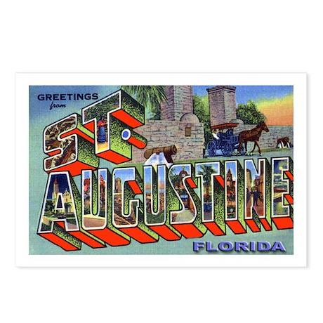 St. Augustine Florida Greetings Postcards (Package