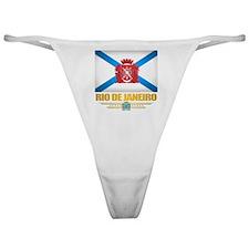 Rio De Janeiro City Flag Classic Thong