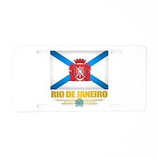 Rio De Janeiro City Flag Aluminum License Plate