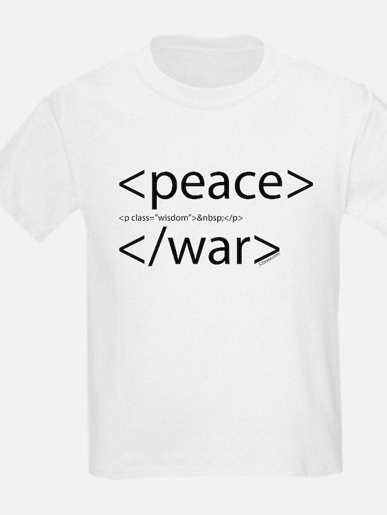 Begin Peace End War HTML Kids T-Shirt