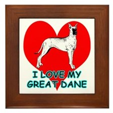 I Love My Great Dane Framed Tile