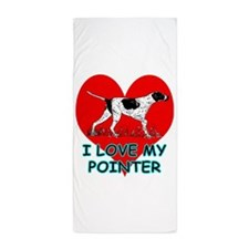 I Love My Pointer Beach Towel