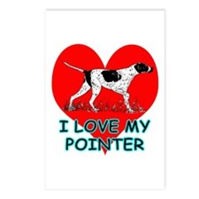 I Love My Pointer Postcards (Package of 8)