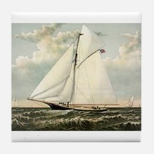 Yacht Gracie of New York - 1882 Tile Coaster