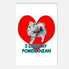 I Love My Pomeranian Postcards (Package of 8)
