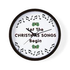 Christmas Songs Wall Clock