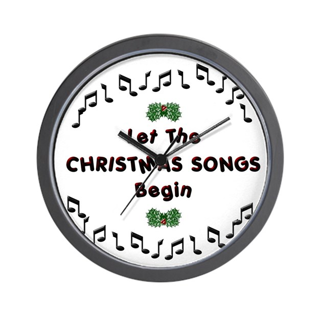 Christmas songs wall clock by freezteez