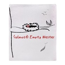 Almost Empty Nester Throw Blanket