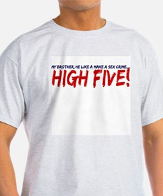 High Five Ash Grey T-Shirt