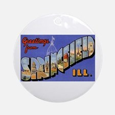 Springfield Illinois Greetings Ornament (Round)